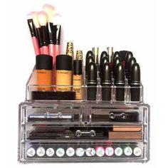 Organizador Maquiagem Acrílico 4 Gavetas Porta Pincel Batom - R$ 79,90 no MercadoLivre