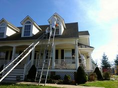 Don't want to get on a 30' ladder to reach the tops of your home? Call us! We are reliable, safe, and friendly!  P. (502) 836 0844