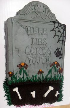 Over the Hill tombstone cake by Sugar Kneads Cakery #sugarkneadscakery
