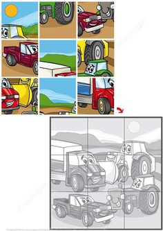 Jigsaw Puzzle with Farm and Construction Transport Kids Learning Activities, Preschool Activities, Number Puzzles, Jigsaw Puzzles, Solar System For Kids, Dots And Boxes, Word Ladders, Cartoon Font, Alphabet Tracing