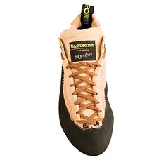 Mythos A high performance climbing shoe with a patented lacing system from La Sportiva