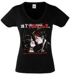 My Chemical Romance Band 3 Alternative Rock Emo Tee Shirt Pop Punk Emo Mcr My Chemical Romance Shirt Black New Mcr Women Lady V Neck T-Shirt. Neo Grunge, Grunge Style, Soft Grunge, Grunge Girl, Rock Shirts, Band Shirts, Tee Shirts, Tokyo Street Fashion, Casual Cosplay
