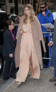 Gigi Hadid showed that beige is far from boring while making an appearance on Live with Kelly & Michael. For her stylish morning out, she donned a $420 Top