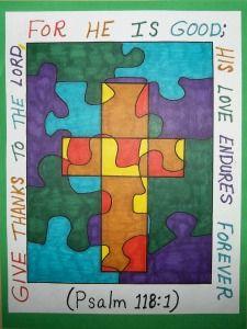 Bible Verse Cross Art