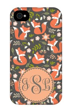 Come shop this Spring Fox Monogram iPhone 4 Tough Case at http://www.putacaseon.me/products/spring-fox-monogram-iphone-4-tough-case . Using our custom case tool you can design your case exactly how you want it.