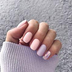 Утонченный нежный маникюр 2018-2019 года, модный нежный дизайн ногтей, фото, идеи | GlamAdvice