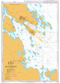 British Admiralty Nautical Chart 925: Skelleftehamn