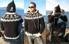 No.1 Pattern - Robin - Icelandic Knitted sweater by Linda Olofsson bulky  4.5mm-6mm