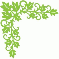 Silhouette Design Store - View Design #55157: scrolls and leaves corner