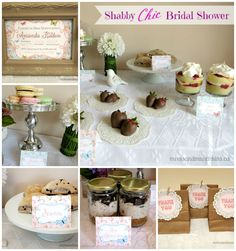 Shabby Chic Bridal Shower Ideas #BridalShower
