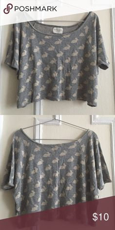 Zara summer top A pretty Zara rabbit print T-shirt. Size M Zara Tops Crop Tops