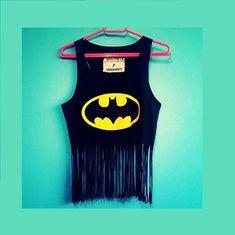 Blusa Batman com franjas