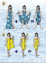 Façons de porter un sarong. Toga Dress, Sarong Dress, Sarong Wrap, Scarf Dress, Diy Dress, Ways To Wear A Scarf, How To Wear Scarves, Diy Clothing, Sewing Clothes