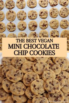 The perfect little bites of heaven. These vegan chocolate chip cookies are so delicious! Vegan Treats, Vegan Foods, Vegan Dishes, Best Vegan Snacks, Best Vegan Recipes, Healthy Recipes, Diet Recipes, Vegan Baking Recipes, Vegan Dessert Recipes