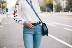 Blouse: & Other Stories, Jeans: & Other Stories, Belt: Madewell, Bag: C/O Cambridge Satchel Company, Shoes: New Look, | What Olivia Did...