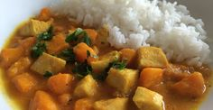 Curry z kurczakiem, dynią i pomidorem