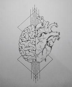 The Dynamic Duo, ink, 11 x 8 : Art Pencil Art Drawings, Art Drawings Sketches, Brain Tattoo, Brain Art, Medical Art, Anatomy Art, Pen Art, Future Tattoos, Body Art Tattoos