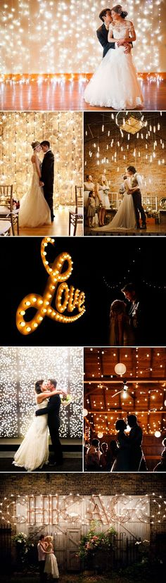 16 Magical Lighted Wedding Backdrops