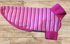 Greyhound fleece pjs  pink stripe lurcher pajamas whippet Pink Walpaper, Fleece Patterns, Dog Jumpers, Pink Color Schemes, Pink Painting, Dog Pajamas, Lurcher, Fleece Pajamas, Pink Stuff