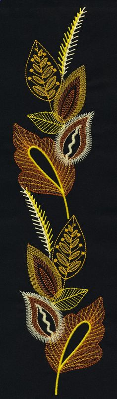 Layered Leaves www.embroideryonl...