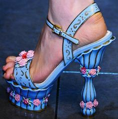 Fashion Milan Fashion Week Dolce and Gabbana Fall 2012 Shoes    Omg reminds me of Beauty and the Beast!!! #Love