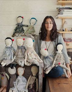 Petaluma-based Jess Brown designs and produces handmade ragdolls, women's clothing and textiles for the home. Featured in Martha Stewart Living, the Today show and other prestigious media outlets, Jess Brown products combine whimsy, function and a vintage twist.  #handmadedollstodelightyourheart