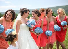 Coral Bridesmaid Gown, Coral bridesmaid dresses 2014