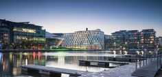 Stunning view of The Marker Hotel and Grand Canal Square. For more information visit: www.themarkerhoteldublin.com