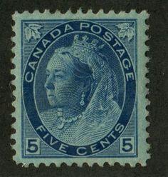 Canada-79-5c-Deep-Blue-1898-1902-Numeral-Issue-Horiz-Wove-F-70-OG
