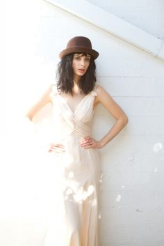 Krysten Ritter; not the hat. I think this design would flatter your figure