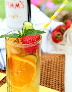 Pimm's Cup - Drink Like You're at Wimbledon!  I've been wanting to try making these for a long time.