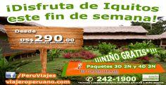 """En el 2014 solicite al counter de Fertur Perú Travel estos paquetes turísticos a Iquitos de 3 días 2 noches y 4 días 3 noches. El primero denominado """"Inolvidable Río Amazonas"""" y el segundo paquete es """"Iquitos y el Río Amazonas""""."""