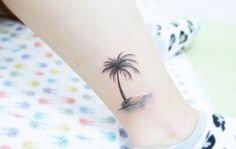 Lone palm on an island by Banul
