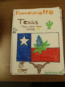Texas history project. Could do this with a state, region, country. Help teach them about it in a fun way.-AB