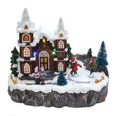 Kurt Adler Battery-Operated LED Musical Christmas Village