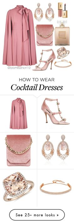 """Glamour"" by teremllfashion19 on Polyvore featuring Valentino, Dolce&Gabbana, Cafuné, Chanel, Hueb, Swarovski, Blue Nile and Yves Saint Laurent"