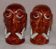 Vintage Mr. BALI HAI TIKI Salt & Pepper Shakers BALI HAI San Diego MOC Japan 60s