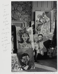 Picasso in his Studio of Mougins  France, 1965. Photographed by Lucien Clergue. Gelatin-silver print. © Lucien Clergue / Licensed by VAGA, New York, NY.