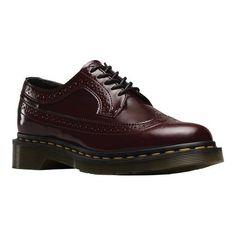 Dr. Martens Women's 3989 Wingtip Shoe, Size: 5 M, Cherry Red Cambridge Brush