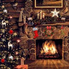 White Christmas Trees, Christmas Mantels, Christmas Scenes, Christmas Villages, Santa Christmas, Xmas Tree, Christmas Traditions, Victorian Christmas, Vintage Christmas Ornaments