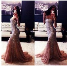 I want this dress so bad!! :( mermaid dress prom sequin sparkle sparkles sparkly dress gown red Maroon purple grad dress gown