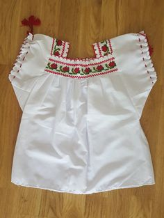 Mexican blouse for girl by ArtisanatMexicaine on Etsy