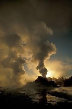 Ice Castle--Old Faithful, Yellowstone NP