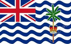 4125a63f6 £3.49 GBP - British Indian Ocean Flag - Territory Flags - Choose Size 3X2