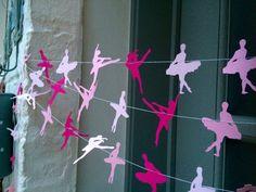 Ballet party dance party ballerina paper garland by LaMiaCasa