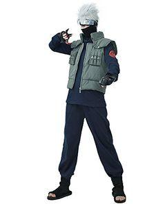 Miccostumes Mens Fullset for Naruto Kakashi Hatake Cosplay Outfit men l >>> Visit the image link more details.