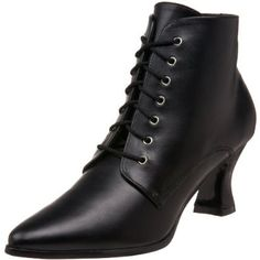 Funtasma by Pleaser Women's Victorian Ankle M US: Heel Height: Approx. Just the boots for your strong Victorian beliefs! These lace up boots have a two and three quarter inch heel. Kitten Heel Ankle Boots, Black Ankle Boots, Lace Up Boots, Ankle Booties, Kitten Heels, Ankle Shoes, Dress Boots, Tall Boots, Victorian Shoes