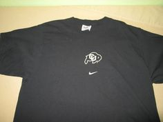 Vntg  Colorado Buffaloes NCAA  T Shirt  Black - Sz M Medium - NIKE #Nike #ColoradoBuffaloes