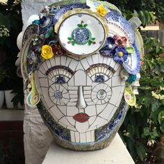 Mnemosyne (Goddess of Memory) | I made this mosaic urn with … | Flickr