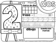 El arte de los números 0-20 {Number Practice Pages in Spanish}